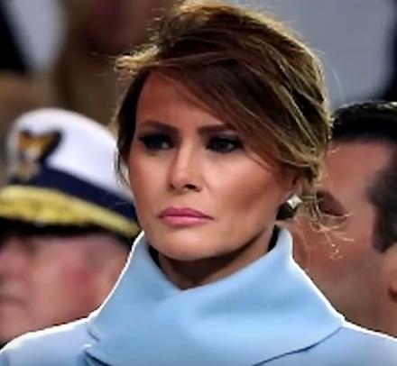 zoom sur Melania Trump